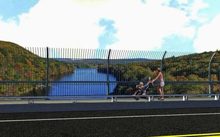 A rendering of the proposed French King Bridge safety barriers